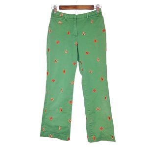 Lilly Pulitzer Maple Leaf Embroidered Crop Pants 2